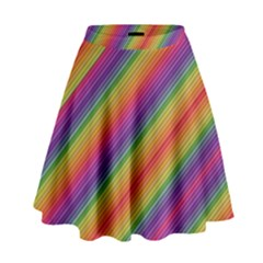 Spectrum Psychedelic High Waist Skirt
