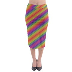 Spectrum Psychedelic Midi Pencil Skirt