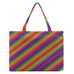 Spectrum Psychedelic Zipper Medium Tote Bag