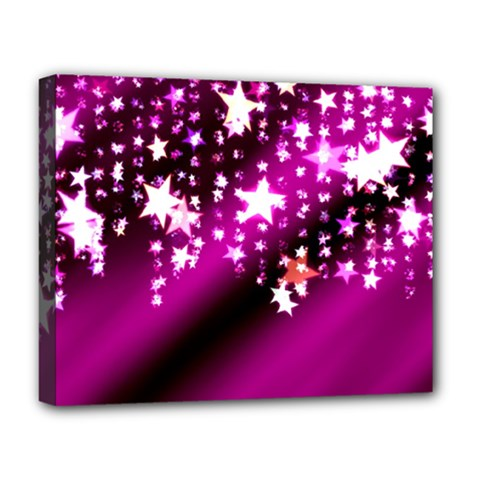 Background Christmas Star Advent Deluxe Canvas 20  X 16   by BangZart
