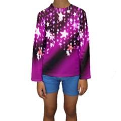 Background Christmas Star Advent Kids  Long Sleeve Swimwear