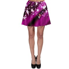 Background Christmas Star Advent Skater Skirt