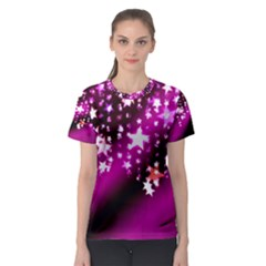 Background Christmas Star Advent Women s Sport Mesh Tee