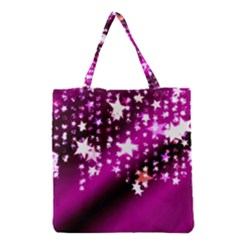 Background Christmas Star Advent Grocery Tote Bag by BangZart