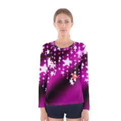 Background Christmas Star Advent Women s Long Sleeve Tee