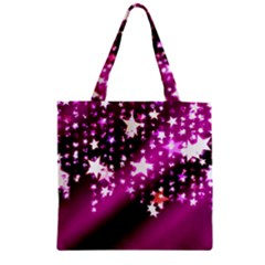 Background Christmas Star Advent Zipper Grocery Tote Bag