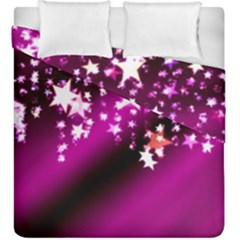 Background Christmas Star Advent Duvet Cover Double Side (king Size)