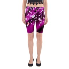 Background Christmas Star Advent Yoga Cropped Leggings