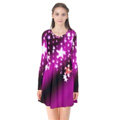 Background Christmas Star Advent Flare Dress