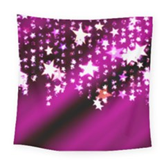 Background Christmas Star Advent Square Tapestry (large)