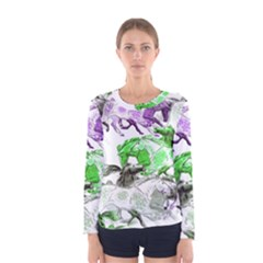 Horse Horses Animal World Green Women s Long Sleeve Tee