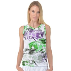Horse Horses Animal World Green Women s Basketball Tank Top