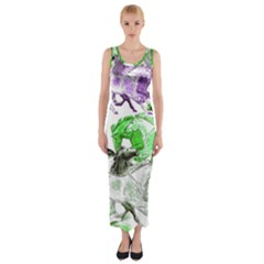 Horse Horses Animal World Green Fitted Maxi Dress