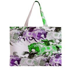 Horse Horses Animal World Green Medium Tote Bag