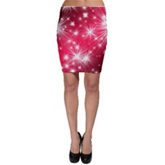 Christmas Star Advent Background Bodycon Skirt