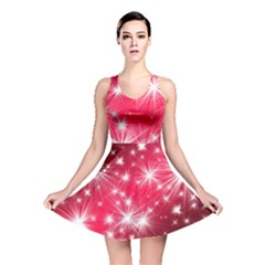 Christmas Star Advent Background Reversible Skater Dress