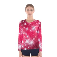 Christmas Star Advent Background Women s Long Sleeve Tee
