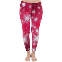 Christmas Star Advent Background Classic Winter Leggings