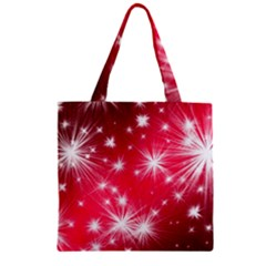 Christmas Star Advent Background Zipper Grocery Tote Bag