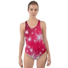 Christmas Star Advent Background Cut Out Back One Piece Swimsuit