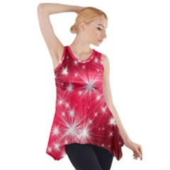 Christmas Star Advent Background Side Drop Tank Tunic