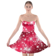 Christmas Star Advent Background Strapless Bra Top Dress