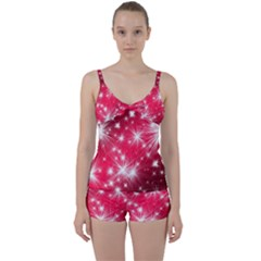 Christmas Star Advent Background Tie Front Two Piece Tankini