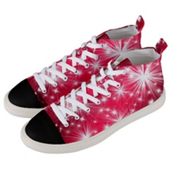Christmas Star Advent Background Men s Mid Top Canvas Sneakers by BangZart