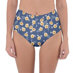 Golden Roses Reversible High Waist Bikini Bottoms by jumpercat
