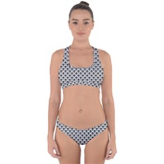 Geometric Scales Pattern Cross Back Hipster Bikini Set