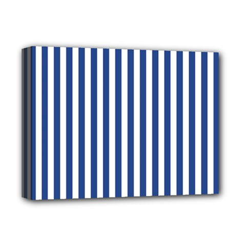 Blue Stripes Deluxe Canvas 16  X 12