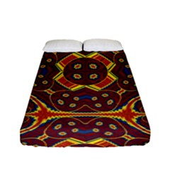 Geometric Pattern Fitted Sheet (full/ Double Size) by linceazul
