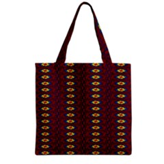 Geometric Pattern Grocery Tote Bag