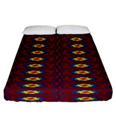 Geometric Pattern Fitted Sheet (queen Size) by linceazul