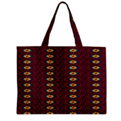 Geometric Pattern Zipper Mini Tote Bag by linceazul