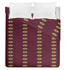 Geometric Pattern Duvet Cover Double Side (queen Size) by linceazul