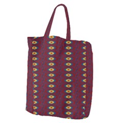 Geometric Pattern Giant Grocery Zipper Tote by linceazul