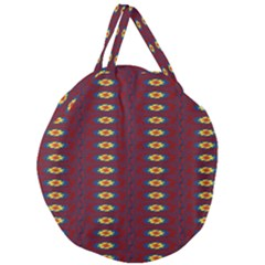 Geometric Pattern Giant Round Zipper Tote by linceazul