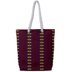 Geometric Pattern Full Print Rope Handle Tote (small) by linceazul
