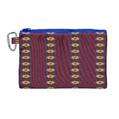 Geometric Pattern Canvas Cosmetic Bag (large) by linceazul