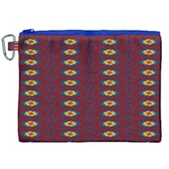 Geometric Pattern Canvas Cosmetic Bag (xxl) by linceazul