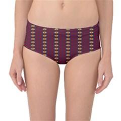 Geometric Pattern Mid Waist Bikini Bottoms by linceazul