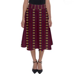 Geometric Pattern Perfect Length Midi Skirt