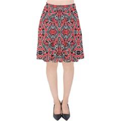 Exotic Intricate Modern Pattern Velvet High Waist Skirt by dflcprints