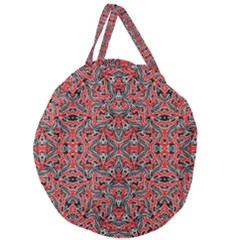 Exotic Intricate Modern Pattern Giant Round Zipper Tote by dflcprints
