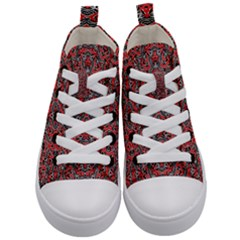 Exotic Intricate Modern Pattern Kid s Mid Top Canvas Sneakers