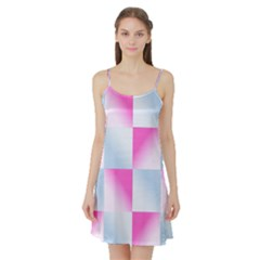 Gradient Blue Pink Geometric Satin Night Slip