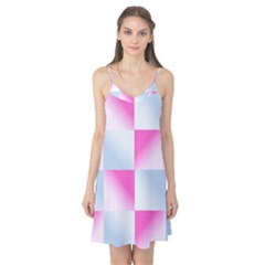 Gradient Blue Pink Geometric Camis Nightgown
