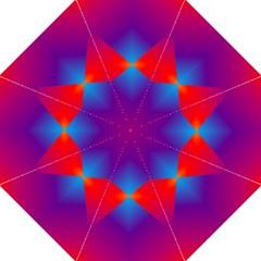 Geometric Blue Violet Red Gradient Hook Handle Umbrellas (medium) by BangZart