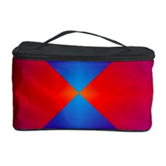 Geometric Blue Violet Red Gradient Cosmetic Storage Case by BangZart